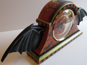 Bat Wing Mantel Clock