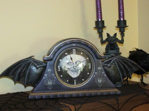The Haunted Mansion Inspired Bat Wing Clock