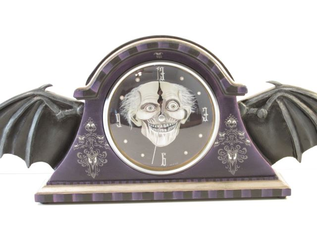 Haunted Mansion Inspired Bat Wing Clock