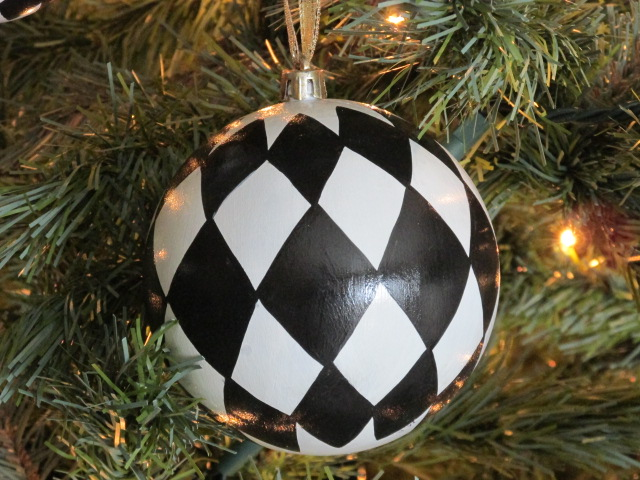 Harlequin Hand Painted Ornaments