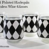 Harlequin Hand Painted Wine Glasses