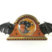 New Vintage Halloween Inspired Bat Wing Clock