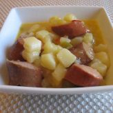 Slow Cooker Cheesy Potatoes with Turkey Smoked Sausage